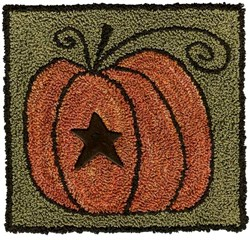 Pumpkin Panache & Button <br> by Artful Offerings