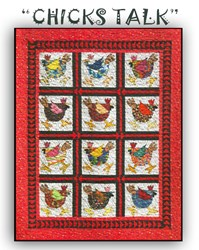 """Chicks Talk"" <br> by Betty Thomas of B & B Designs"