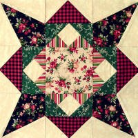 Vintage Find!Single Block - Crossed Towers Patchwork Party Fall 2007 Block