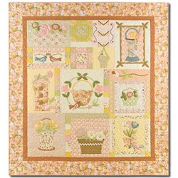 Vintage Find - LAST ONE! Bunny Hill Designs - Blossom Time Quilt Kit Free US Shipping!