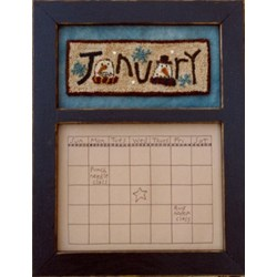Calendar Series - January - Punch Needle Pattern