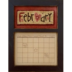 Calendar Series - February - Punch Needle PatternButtermilk Basin