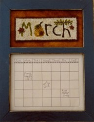 Calendar Series - March - Punch Needle Pattern<br>Buttermilk Basin