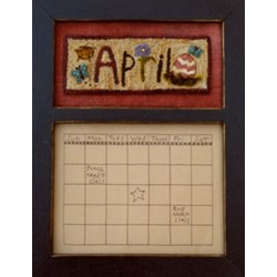 Calendar Series - April - Punch Needle Pattern