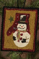 Last One!  12 Days of Snowmen - January - Punch Needle Pattern