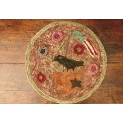 Circle Flower Mat Rug Hooking Pattern