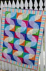 Wiggly Worms Log Cabin Quilt Pattern by Cut Loose Press