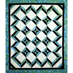 Tropical Blues Quilt Pattern by Cut Loose Press