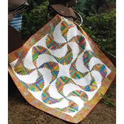 Rainbow Swirls Cut Loose Press Pattern and Optional Log Cabin Trim Tool