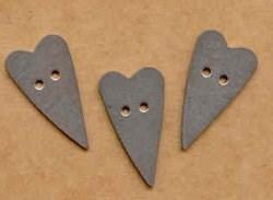 Metal Folk Heart Buttons