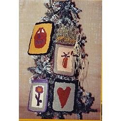 "Vintage Find! ""Carrot""   Rug Hook Bags Pattern by Konfettis"