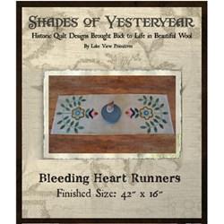Bleeding Hearts Runner with Silk Matka & 100% Hand Dyed Wool