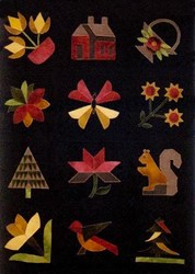 <I>LAST ONE!</I> The Rainbow Forest Wool Applique Kit - All at Once