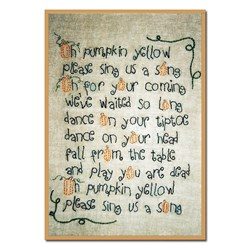 Vintage Find!  Pumpkin Yellow Stitchery Pattern by Liberty Rose