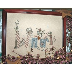 Vintage Find!  Winter Stitchery Pattern by Liberty Rose