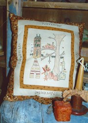 Vintage Find!  November - Month by Month Stitcheries by Liberty Gardens