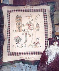 December - Month by Month Stitcheries by Liberty Gardens