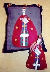 Vintage Find!  Prim Santa Pillow & Doll Pattern by Liberty Gardens