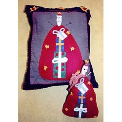 Vintage Find!  Prim Santa Pillow & Doll Pattern by Liberty Gardens