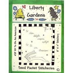Vintage Find!  To Be An American Seed Packet Stitchery Pattern by Liberty Gardens