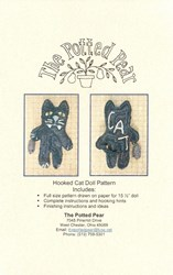 Hooked Cat Doll Pattern- by the Potted Pear