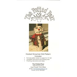 Hooked Snowman Doll Pattern- by the Potted Pear