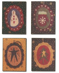 Punch Needle Winter Ornies Patterns<br> by Primitive Gatherings