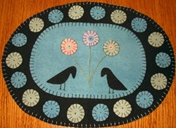 Vintage Find!  Spring Crows Pennyrug Pattern