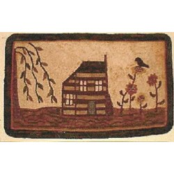 Vintage Find!  My Country Home  Hooked Rug PatternRughooking Store