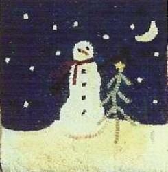 Vintage Find!  Snowman Hooked Pattern<br> Rughooking Store