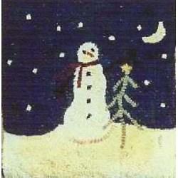 Vintage Find!  Snowman Hooked Pattern Rughooking Store