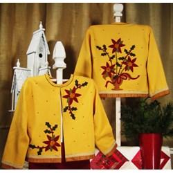 Christmas Blooms Applique Jacket Starter Kit