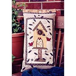 Vintage Find!  Sunflower  Birdhouse Pillow Serendipity