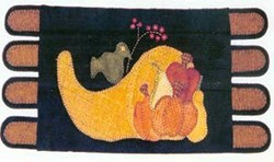 Vintage Find!  Bountiful Gourds Pennyrug Pattern<br>Sew Unique
