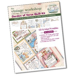 Garden of Verse Quilt Kit the Vintage Workshop