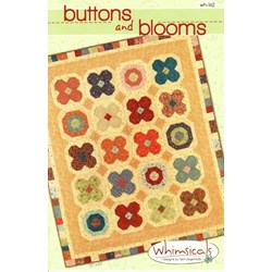 Button and Blooms Quilt Pattern by Terri Degenkolb by Whimsicals