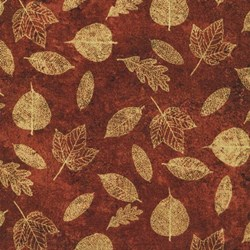 A New Leaf - Brown Metallic Leaves by Ro Gregg- by Paintbrush Studios
