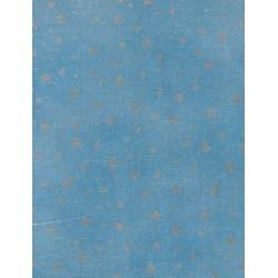Holiday Flourish - Metallic Silver Stars on Blue #19259-4
