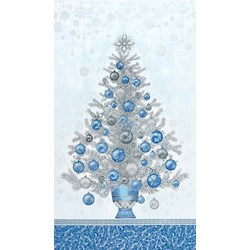 Holiday Flourish - Metallic Blue Panel- #19260-4