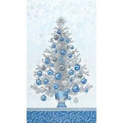 Holiday Flourish - Metallic Blue Panel- #19260-4