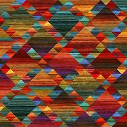 "30"" Remnant -  - Red/ Multi Diamond Grid - Mountain Vista by Northcott Studio"