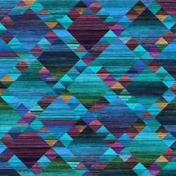 Teal/Blue Diamond Grid - Mountain Vista by Northcott Studio