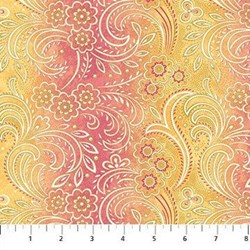 Radiance Metallic Large Floral Stripe - by Deborah Edwards Northcott Studio