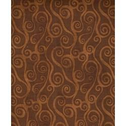 Essentials Swirly Scroll - Chocolate Brown - 39081-229 Wilmington Prints