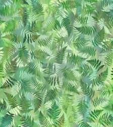 "End of Bolt - 40"" - Garden Dreams Leaf- In The Beginning Fabrics"