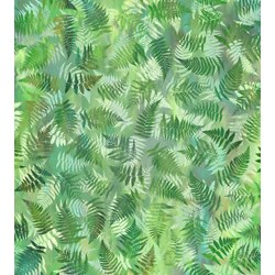 #3JYL2 Garden of Dreams Fabric, Spring Green Fern, In the Beginning Fabrics, Jason Yenter