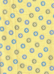 "End of Bolt - 43"" - Arabella - Mini Yellow- by Benartex"