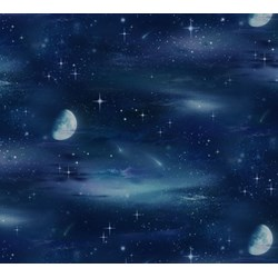 Night in Space with Stars Moon and Sky Landscape Medley by Elizabeth's Studio