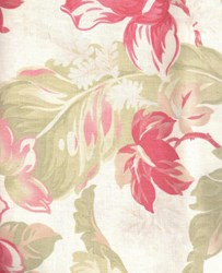 "Vintage Find!  54"" Seaside Rose by Moda - Poly/Cotton Blend Linen Fabric"