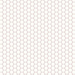 """End of Bolt - 40"""" - Bee Backgrounds - Red Honeycomb by Lori HOld for Riley Blake Fabrics"""